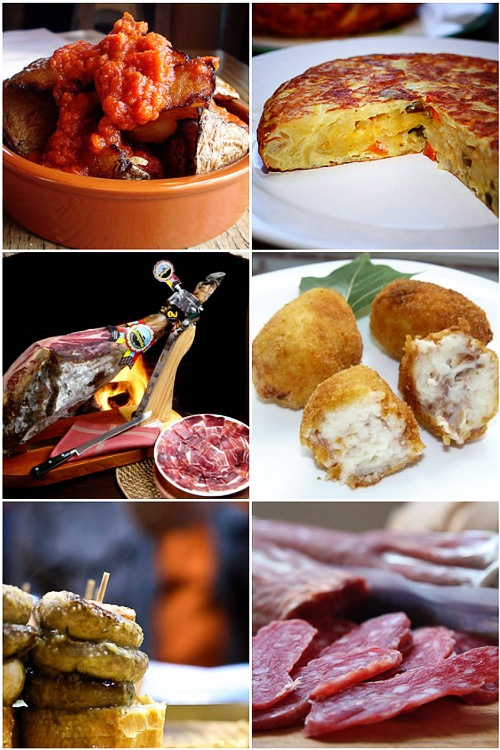 Tapas - at tapas bars on every block in Barcelona, you'll find small plates of albondigas, ham croquettes, potatas bravas, spanish omelets, olives, manchego, jimon and all sorts of goodies.  this is my favorite way to eat