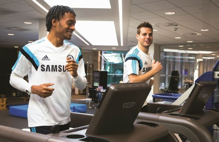 Chelsea FC's Cobham training ground is fully outfitted with Technogym's wellness machines.