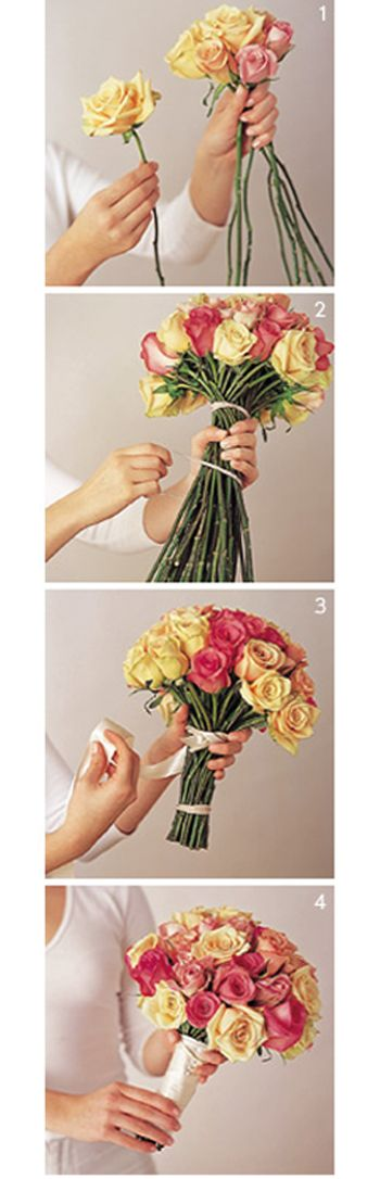 Easy DIY Bouquets http://www.preownedweddingdresses.com/blog/green-simple-diy-bouquets