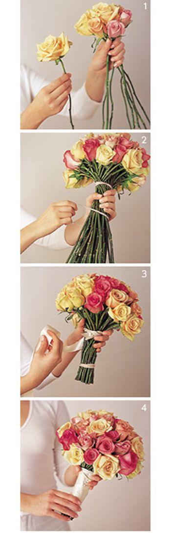 Easy DIY Bouquets http://www.preownedweddingdresses.com/blog/green-simple-diy-bouquets