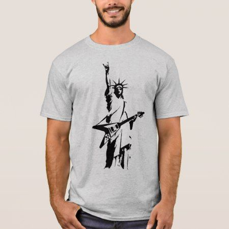 Statue of Liberty Rock V Guitar T-Shirt - click/tap to personalize and buy