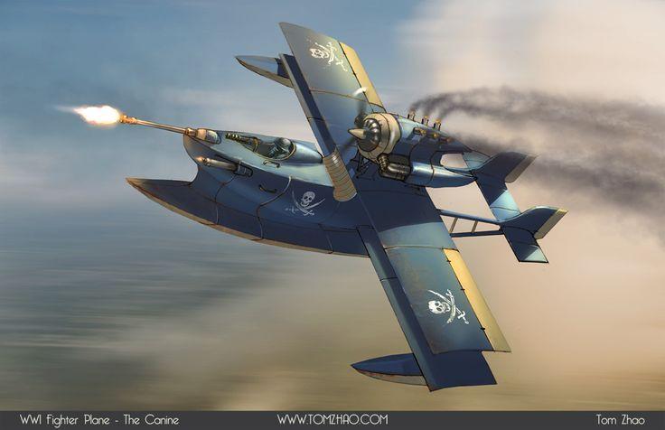 Cool Plane Propellers : Dieselpunk spaceships propeller plane