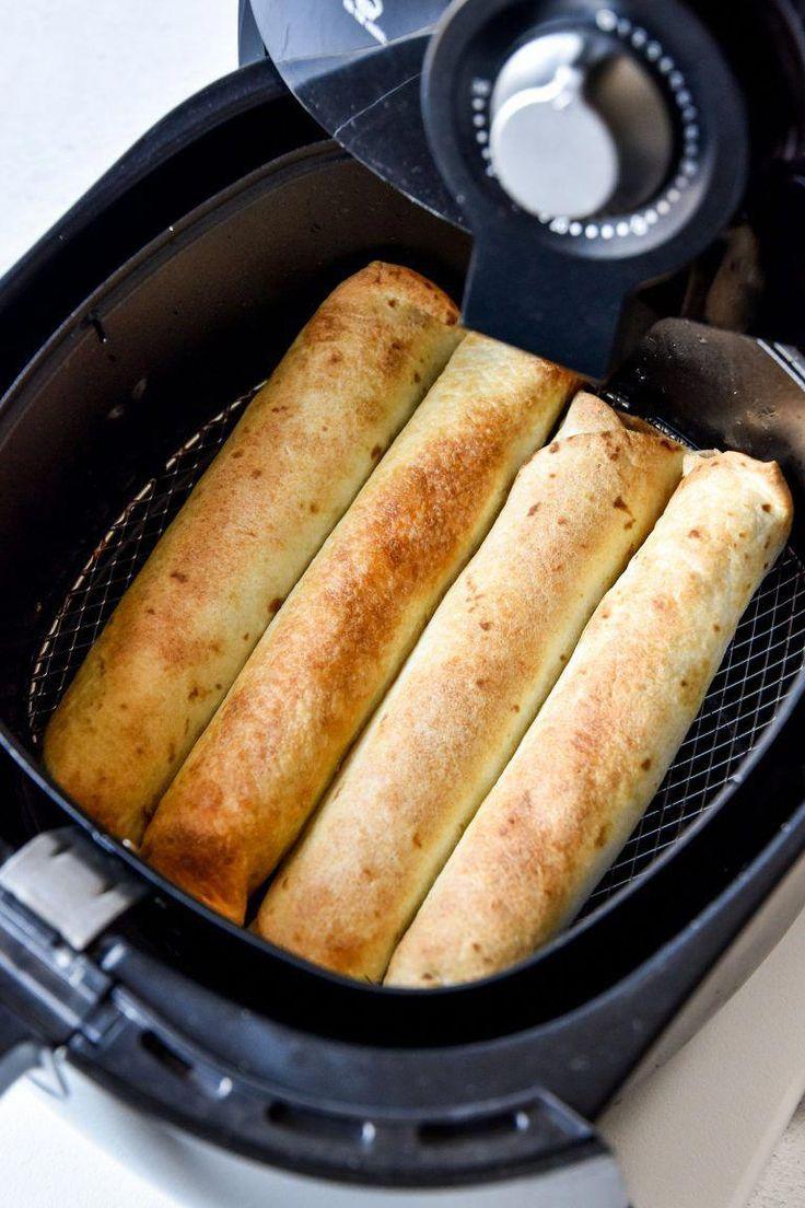 Air Fryer Chicken Taquitos (or Flautas!) Recipe Food