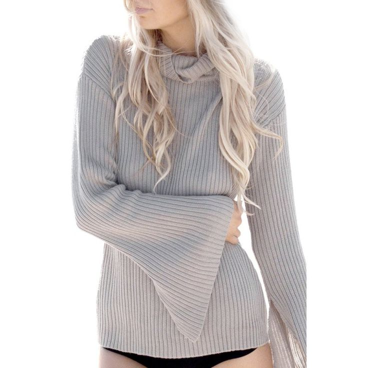 2016 New Autumn Women High Collar Thin Sweaters and Pullovers Female Sexy Gray Knitted Jumpers Top Slim Long Sleeve Basic Shirt