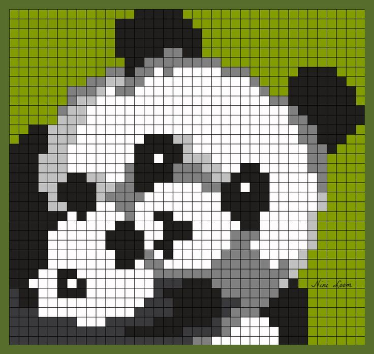 Pixel Art Panda Minecraft In 2020 Pixel Crochet Blanket Pixel Art Pixel Crochet