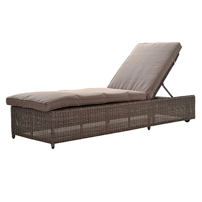 Havana All Weather Wicker Lounger with Cushion $494.99