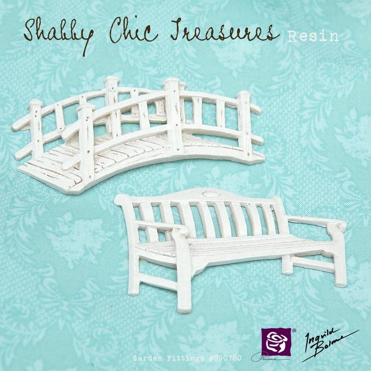 Shabby Chic Resin Treasures- Garden Fittings