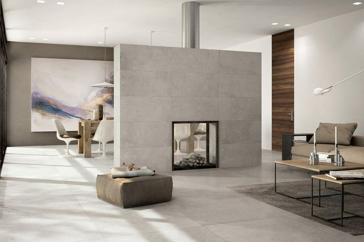 Get The Look: Industrial Style with a Polished Concrete Tile! - Design Tiles                                                                                                                                                                                 More