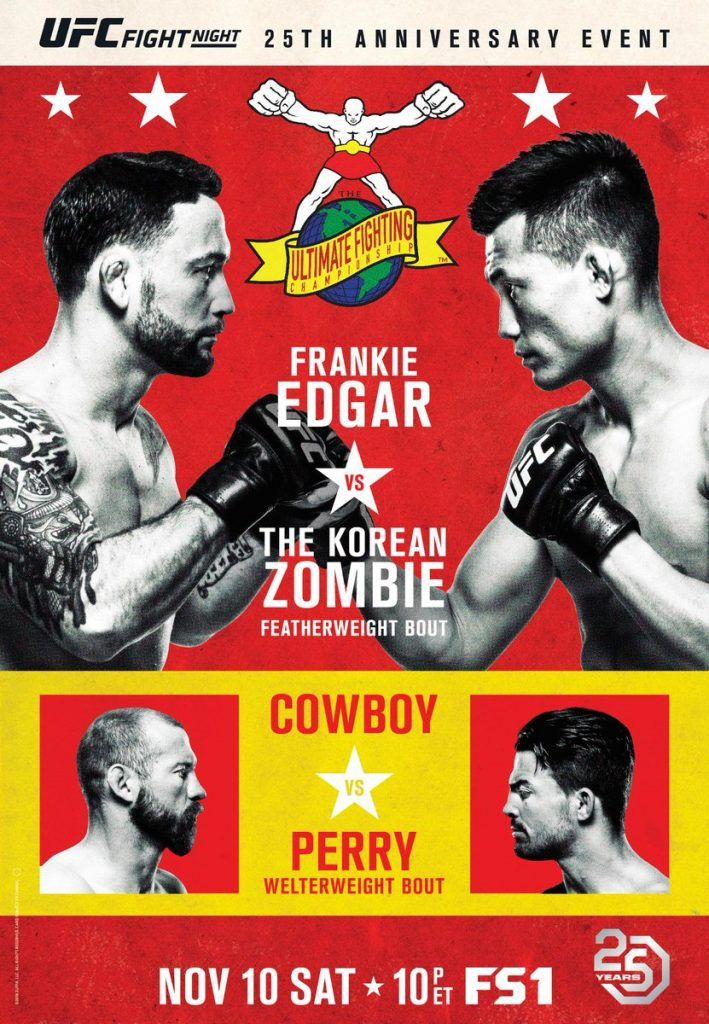 Plakat Gali Ufc Fight Night 139 Edgar Vs Korean Zombie I Karta