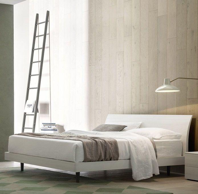 Letto standard / doppio / moderno / in legno laccato BEND NOVAMOBILI