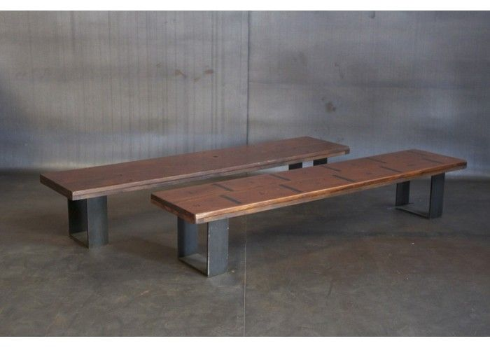 Reclaimed Bleacher Wood Bench Cleveland Art Furniture Pinterest Woods Decorating And House
