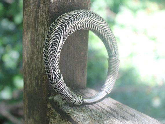 30.00   Ethnic jewellery Coiled wire bangl3e Bohemian bangle Gypsy bangle Boho jewellery Handmade tribal Miao silver jewellery Handmade jewelry