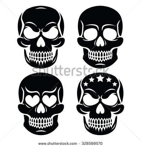 Halloween human skull design - death, Day of the Dead
