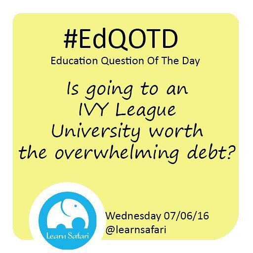 Do Ivy League graduates really do better than graduates from other schools? Does it really matter what your degree says? Or a degree at all?  #EdQOTD #graduate #college #debt #learnspanish #entrepeneur #hustle