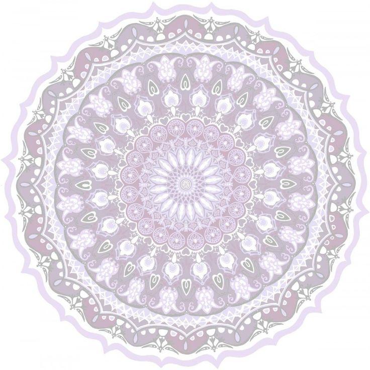 Kaleidoskooppi tapetti 53x1120 cm lila - Tapetit