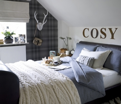 Scottish hunting lodge theme for boys room?  What can I say, I'm mad for plaid (and anything Scottish and themes!)