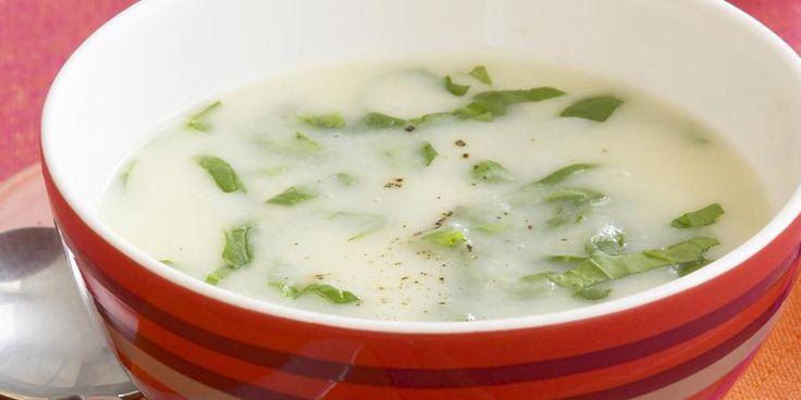 Recipe for Cauliflower, potato and spinach soup