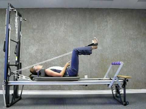 Pilates Reformer lower body workout. http://www.pilates-back-joint-exercise.com/pilates-reformer-workout.html