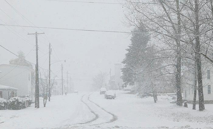 This is the on the other side of Sandy. Blizzard in West Virgina. Picture from Davis, WV