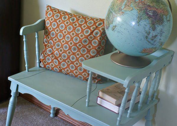 Great inspiration for the gossip bench I found and need to revamp soon!