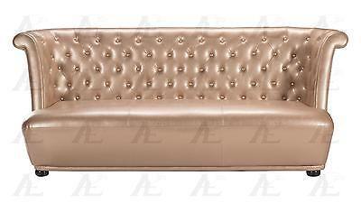 American Eagle AE590-RG Rose Gold Sofa and Loveseat Set Faux Leather 2Pcs