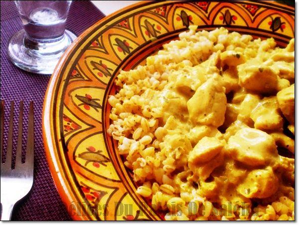 Poulet au curry rapide
