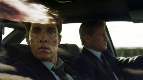 Rust Cohle and Marty Hart True Detective  Matthew McConaughey  Woody Harrelson