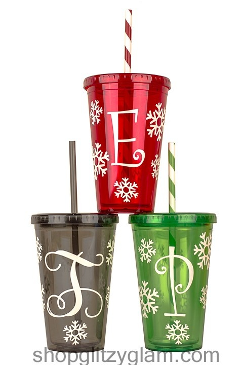 $18 This double-walled 16 oz. tumbler was designed with the Holiday's and winter in mind.  This product is BPA (Bisphenol A) free.  Please note that they are decorated with vinyl lettering.  Hand wash only.  Do not microwave.
