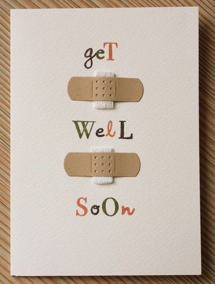 Its the Flu  Cold time of year. Cheer someone up  make them this super easy get well card! #DIY #Homemade