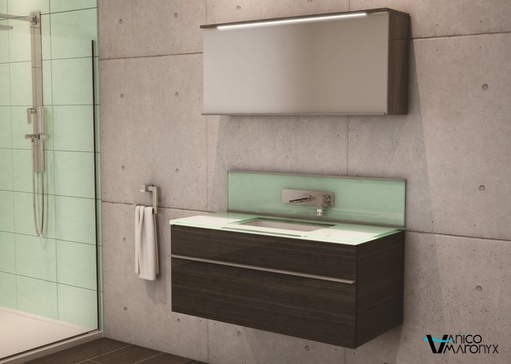 Mobilier de salle de bain TIMES SQUARE de la SÉRIE LOFT - VANICO MARONYX.Disponible chez Montréal - Les - Bains