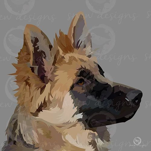 snewdesigns | German Shepherd | Digital