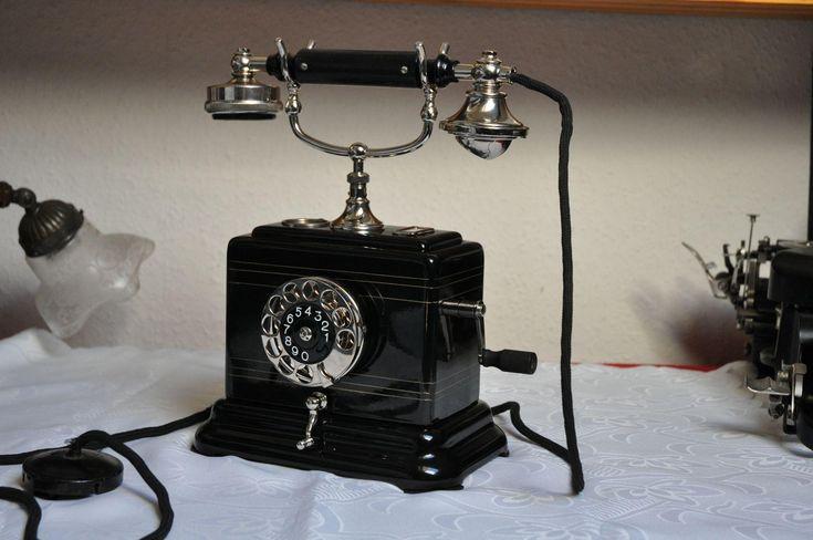 Przedwojenny Polski Ericsson Past-y (Antyki i Sztuka Antyki Zabytki techniki Stare telefony)