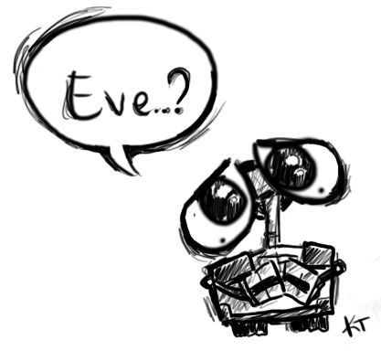 Wall-E by ~saarin on we heart it / visual bookmark #32960146 (walle,eve)