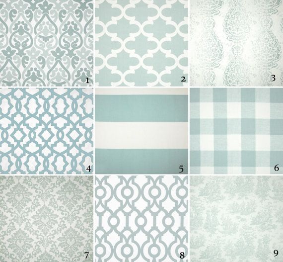 Blue toile curtain panels