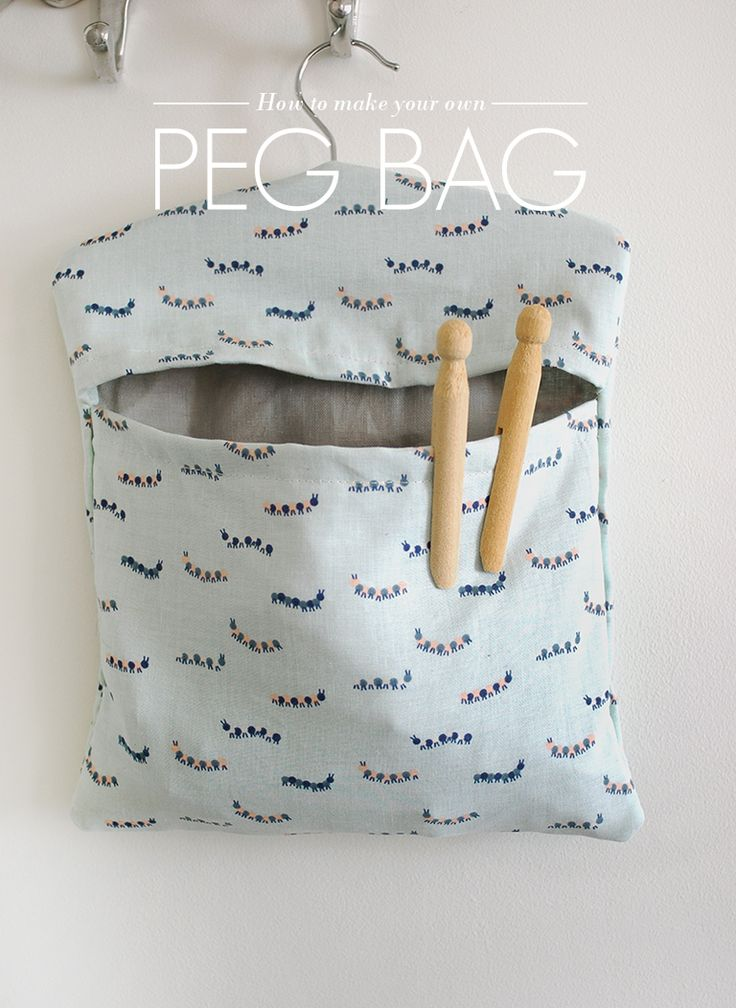 How to Make Your Own Peg Bag - free tutorial
