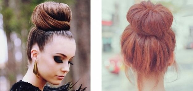 Удобная прическа с бубликом ::: onelady.ru ::: #hair #hairs #hairstyle #hairstyles