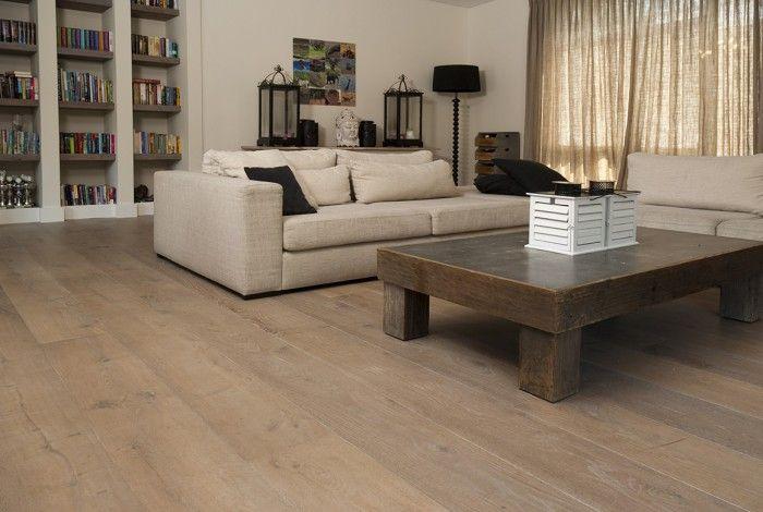 Eiken houten vloer dubbel gerookt wit geolied sortering natuur! Dutz Floors