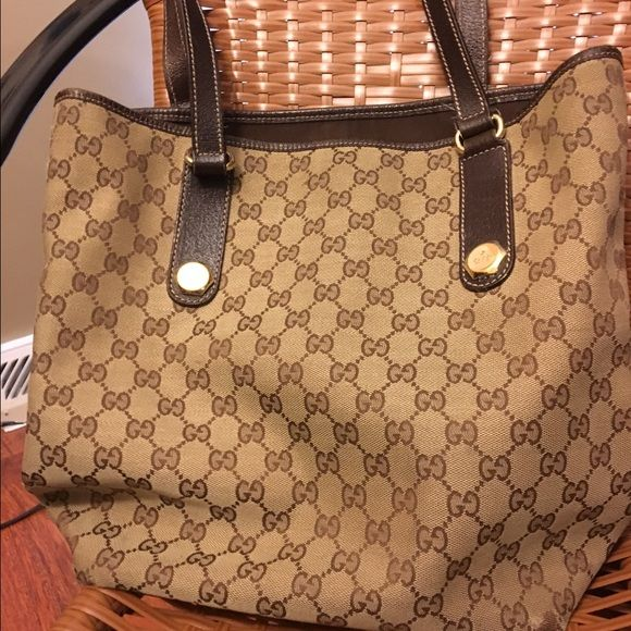AUTHENTIC GUCCI PURSE Authentic Gucci purse with wear as shown in pics. Price reflects condition Gucci Bags Shoulder Bags