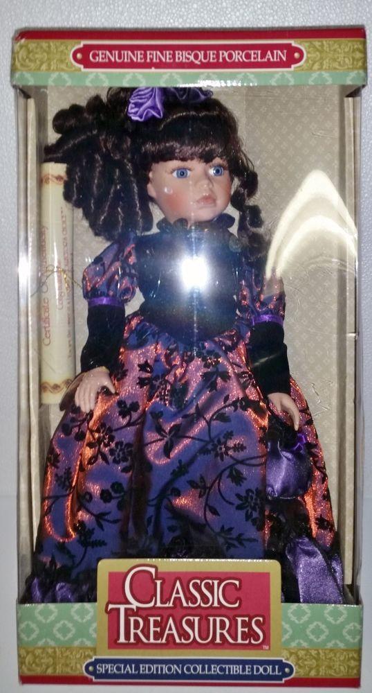 Genuine Fine Bisque Porcelain Doll - Special Edition NIB Classic Treasures