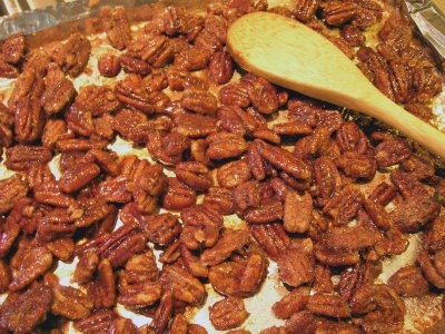Candy Coated Pecans Recipe - How to make Candy Coated Pecans - Appetizers