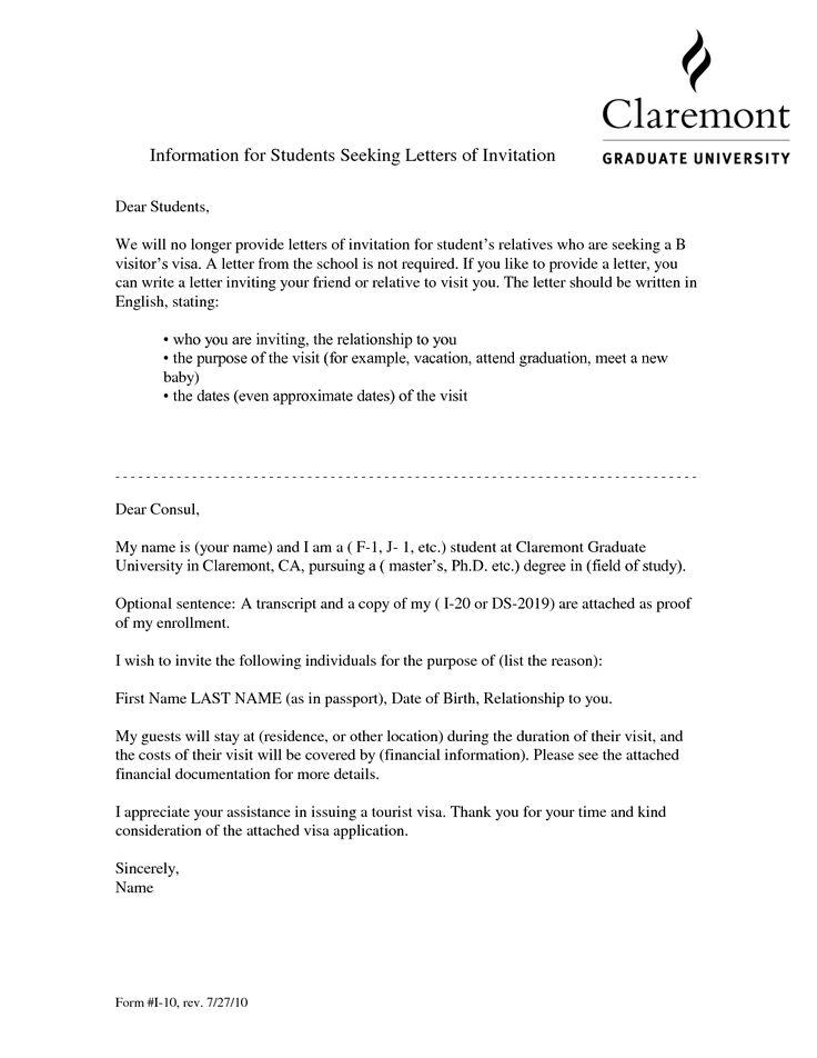 Visa Invitation Letter For FriendVisa Invitation Letter To