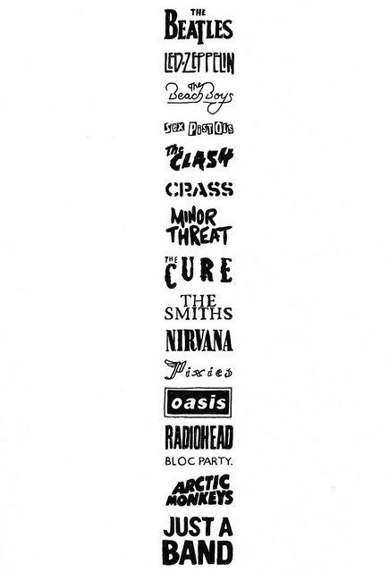 band logos drawing
