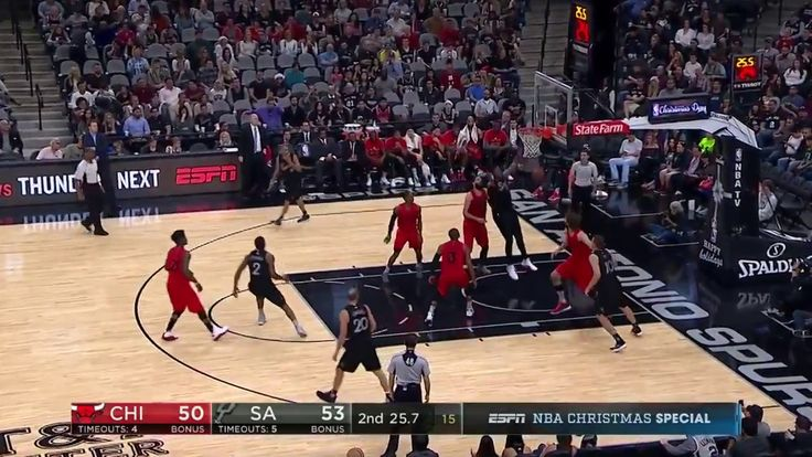 Bulls vs Spurs Kawhi Leonard 25points NBA Games Today Dec 25 2016