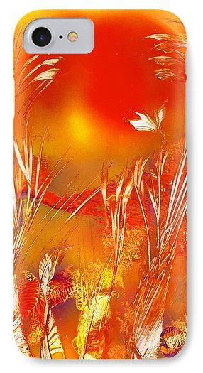 Spring On The Red Planet IPhone 7 Case Printed with Fine Art spray painting image Spring On The Red Planet by Nandor Molnar (When you visit the Shop, change the orientation, background color and image size as you wish)