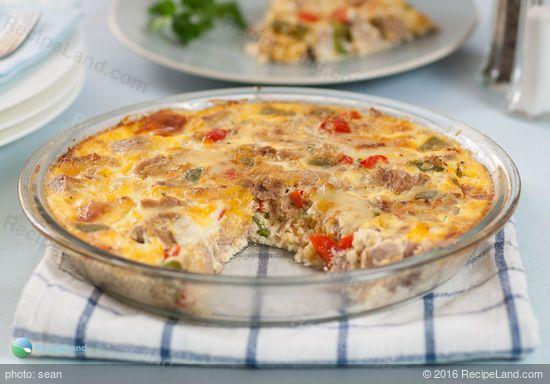 Crustless Tuna Quiche: Crustless Tuna Quiche recipe