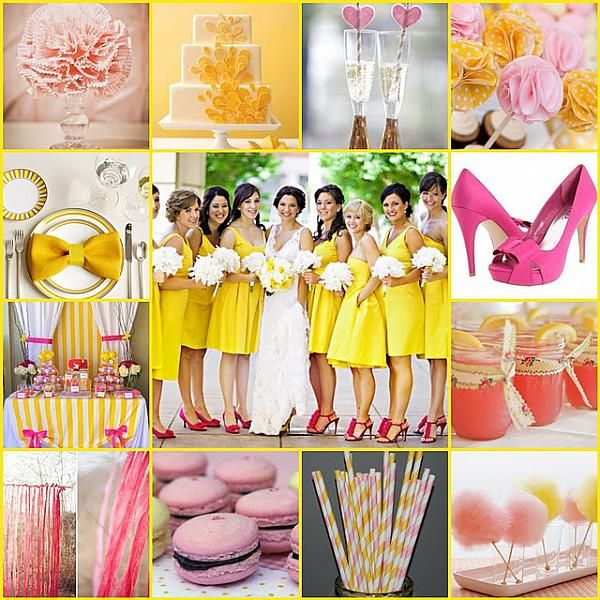 Turquoise And Yellow Wedding Ideas Color Scheming Wedding Chicago Color Schemes Pink And Yellow