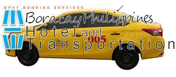 Private taxi from Kalibo Airport to Caticlan Jetty Port.