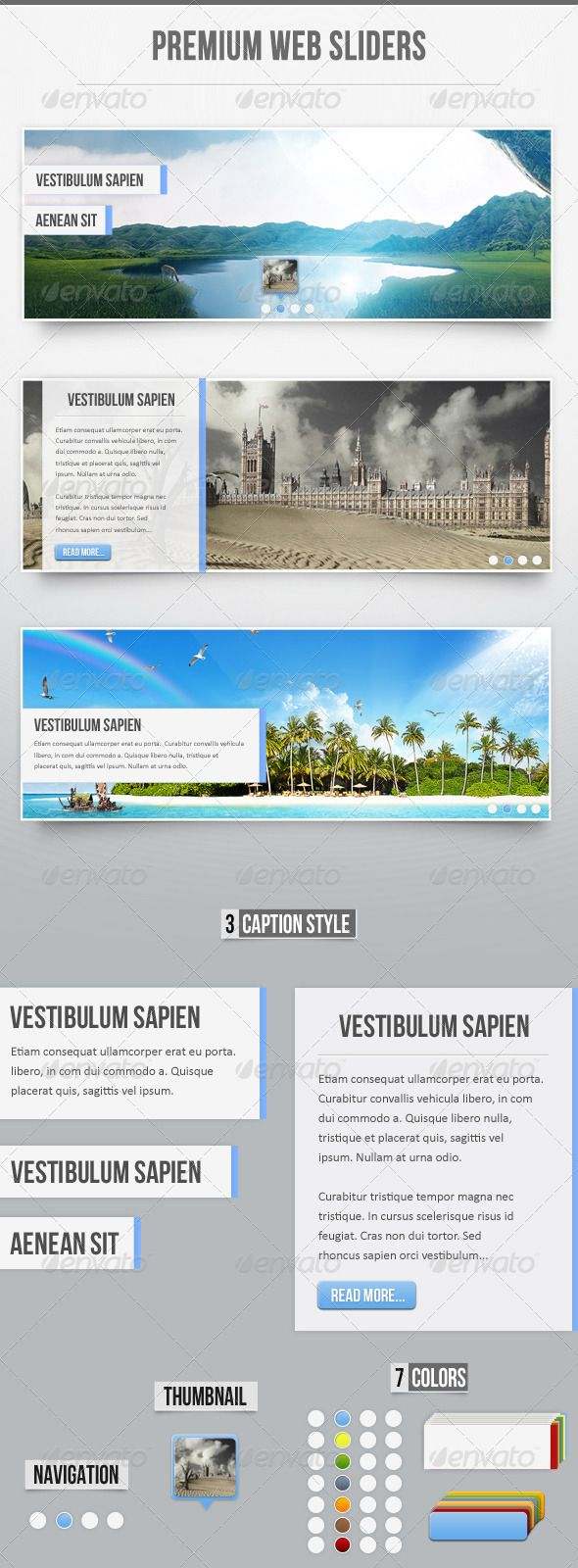 Premium Web Sliders - Sliders & Features Web Elements