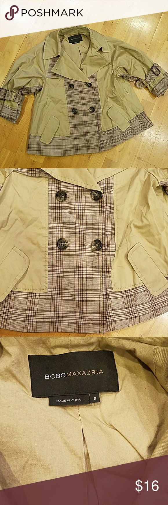 So Cute BCBGMAXAZRIA Jacket Small So Cute BCBGMAXAZRIA Jacket Small 3/4 sleeve Very detailed Can dress up or down Lined and very well made BCBGMaxAzria Jackets & Coats