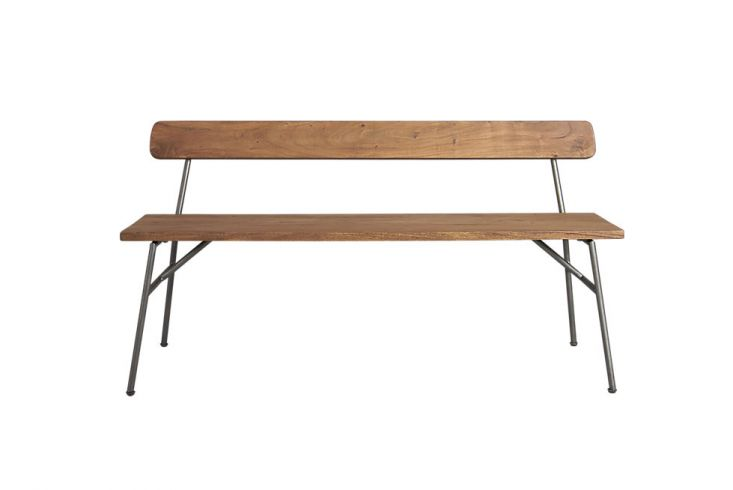 We've presented some of our favorite benches in the past–Wooden Benches with Spindle BacksandBackless Wooden Dining Benches–but we have yet to